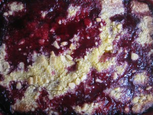 In a far-flung corner of the galaxy a blackberry-coloured volcano destroys a planet seemingly made of delicious-looking crumble